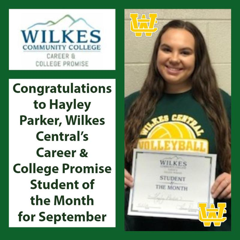 Congratulations September CCP Student of the Month - Hayley Parker Thumbnail Image