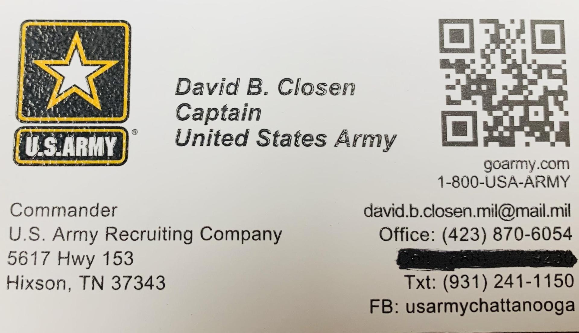 US Army Contact Information