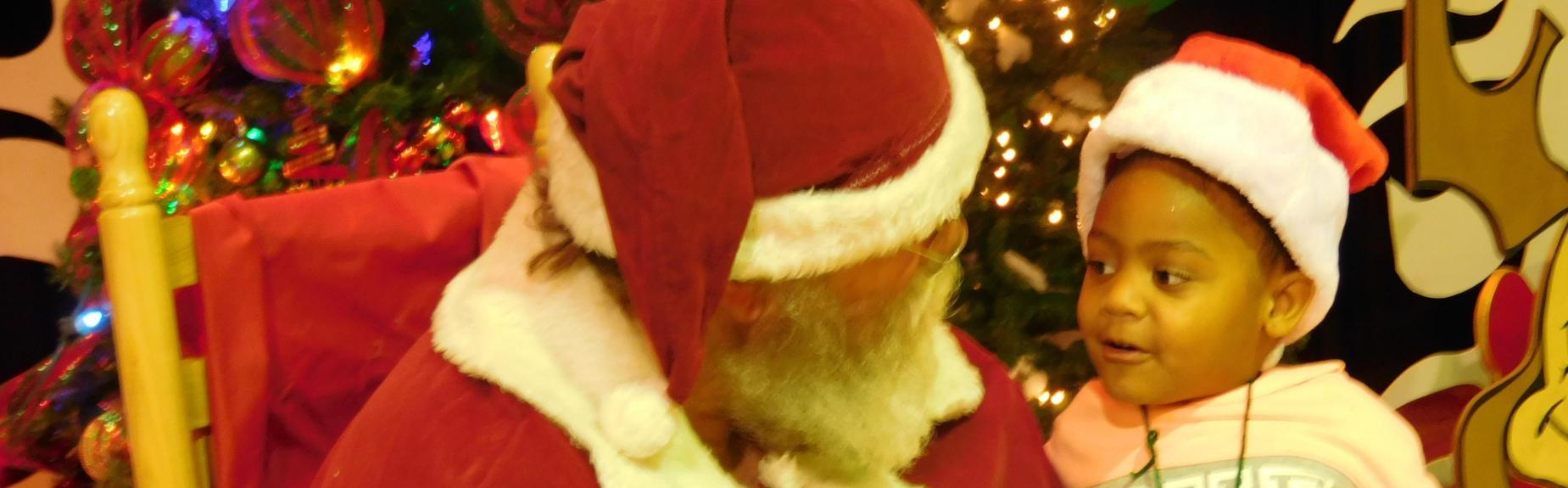 Santa visits North ELC students