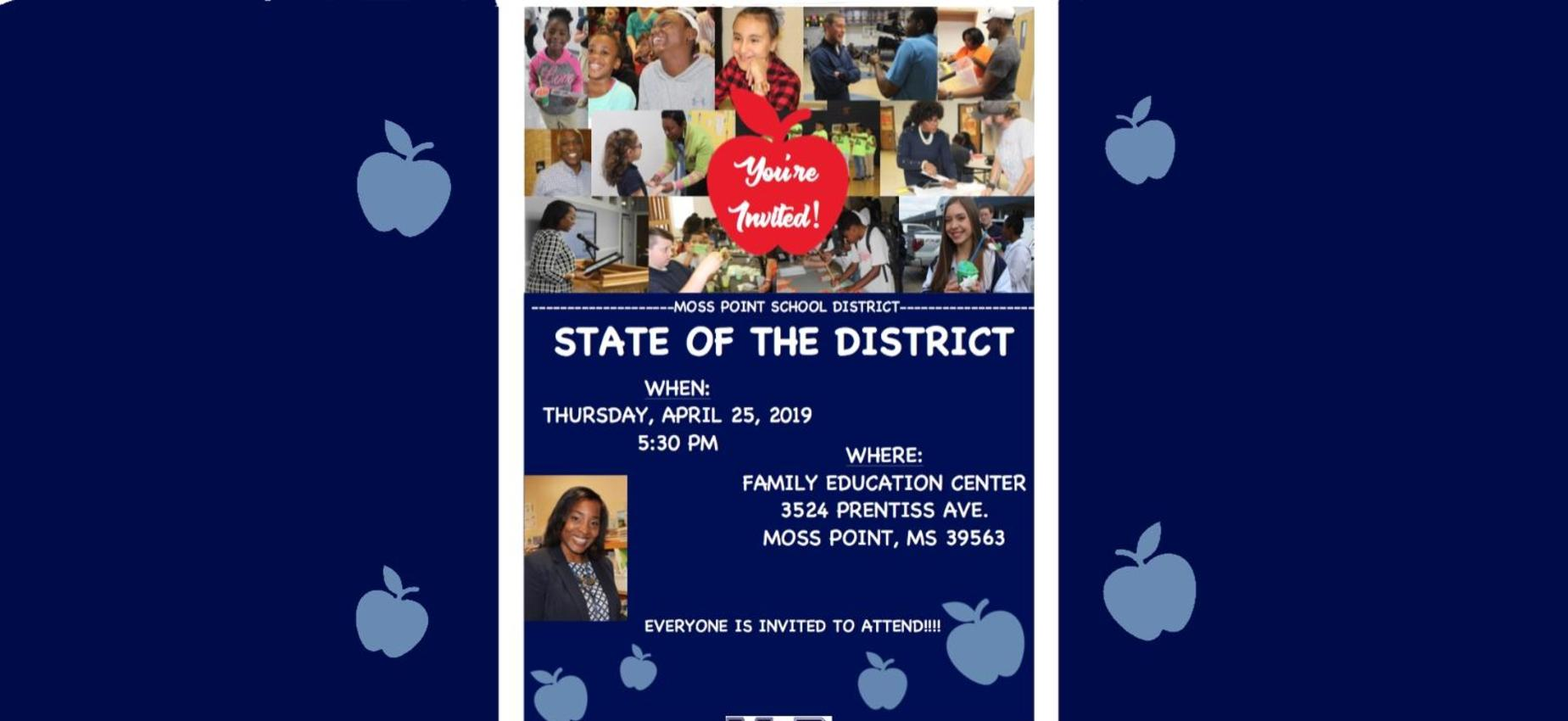 state of district banner