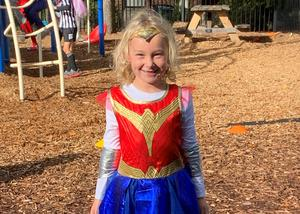 St.Timothy's School student dresses up for Halloween