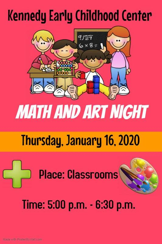 Kennedy Early Childhood Center Math and Art Night 2020