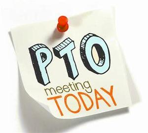PTO Meeting Today sign