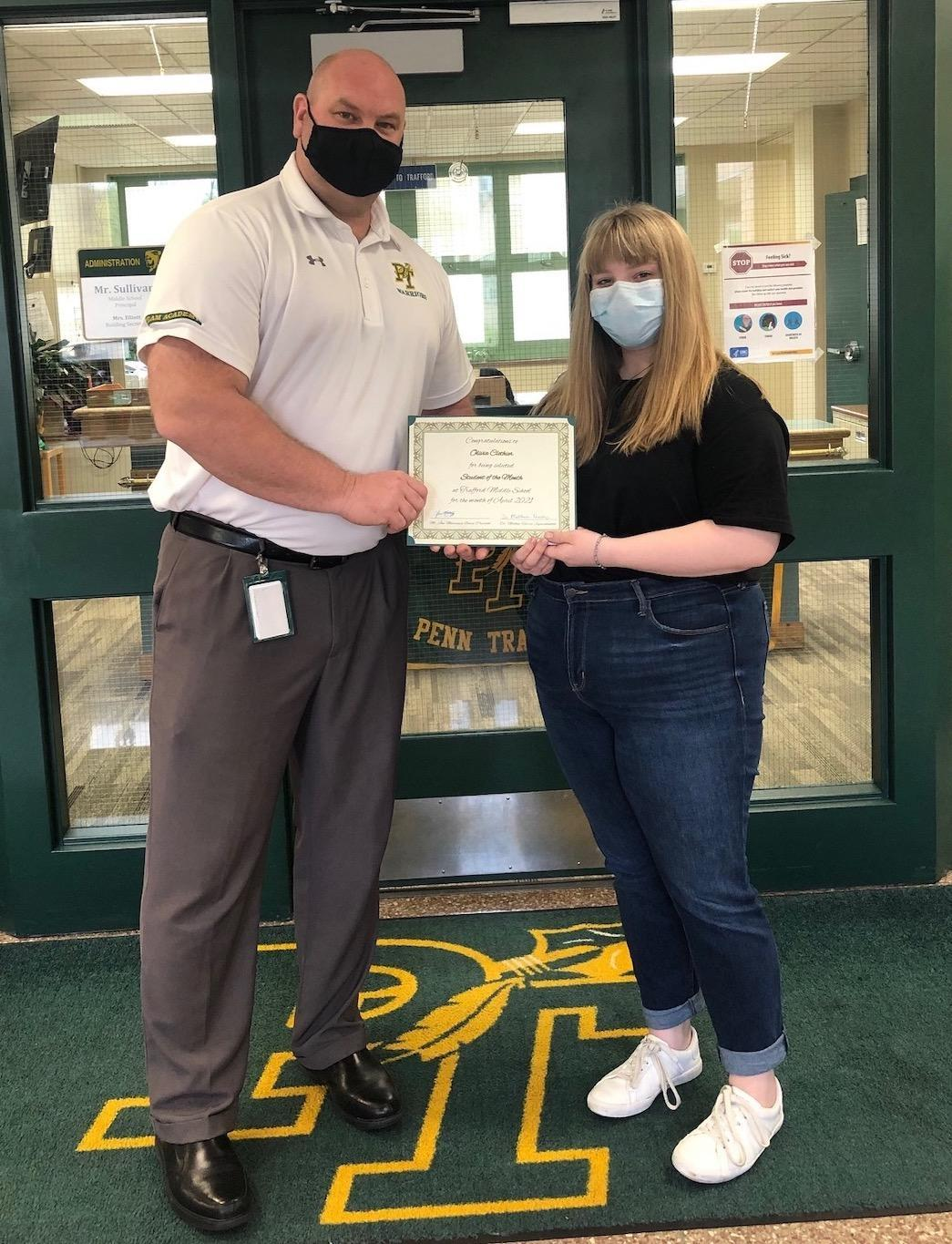 Olivia Clothier, student of the month