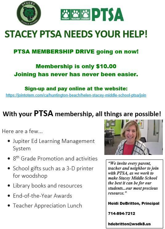Sign-up for PTSA today completely online!!! Featured Photo
