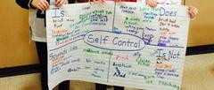 Banner with words about Self- Control