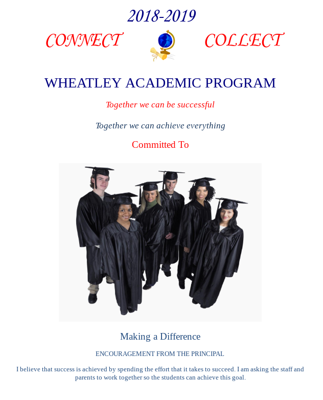 Image of Handbook Cover for Wheatley Academic Program