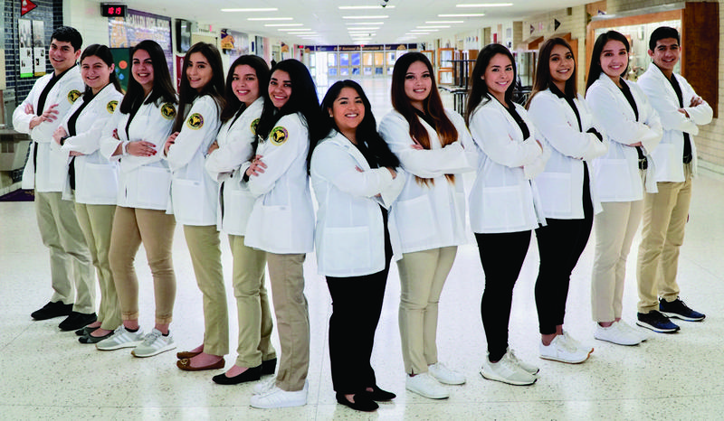 McAllen ISD recognized 22 students this year who earned their Certification as Pharmacy Technicians.