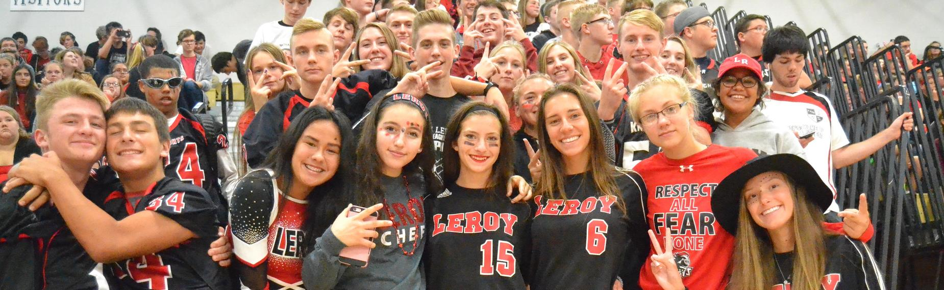 LCSD students at Pep Assembly