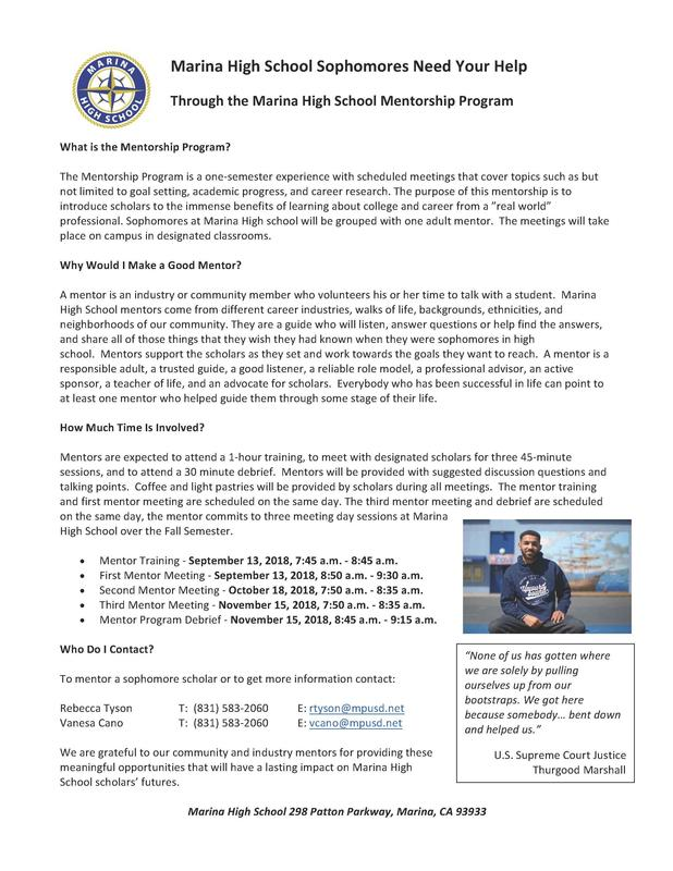 MaHS Mentorship Program