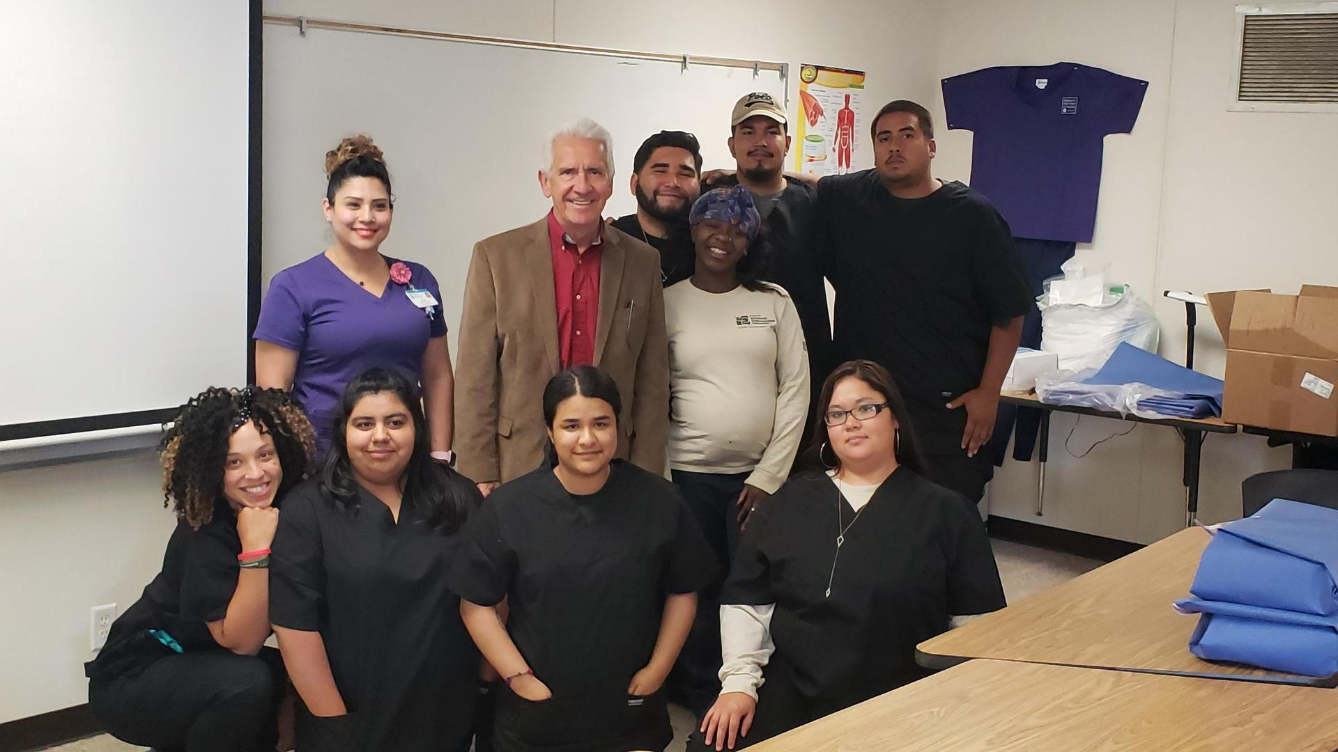 Fresno healthcare students' visit from a Congressman