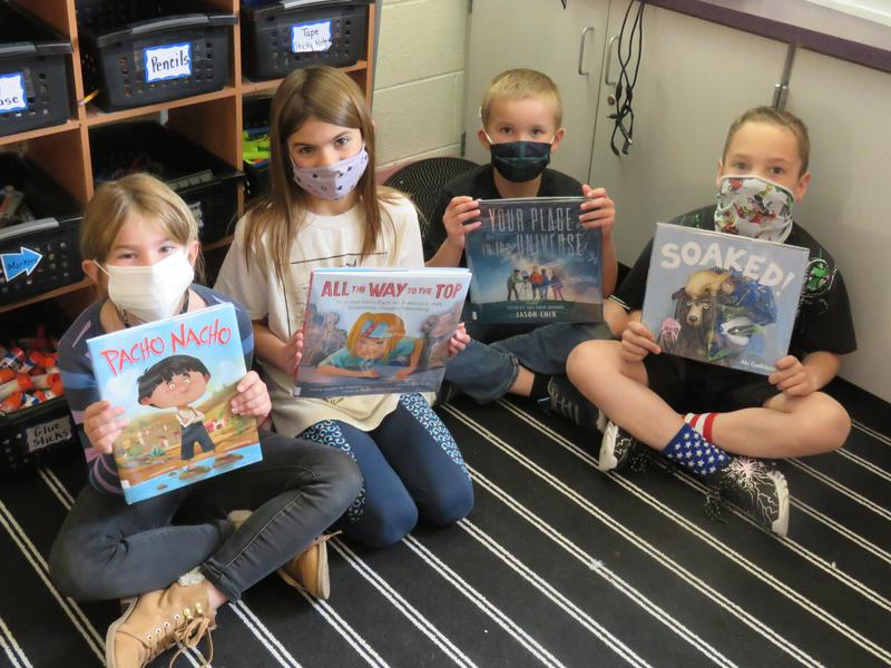 Lee Elementary students share the final four books in the schoolwide March Book Madness competition.