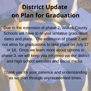 update on graduation plans
