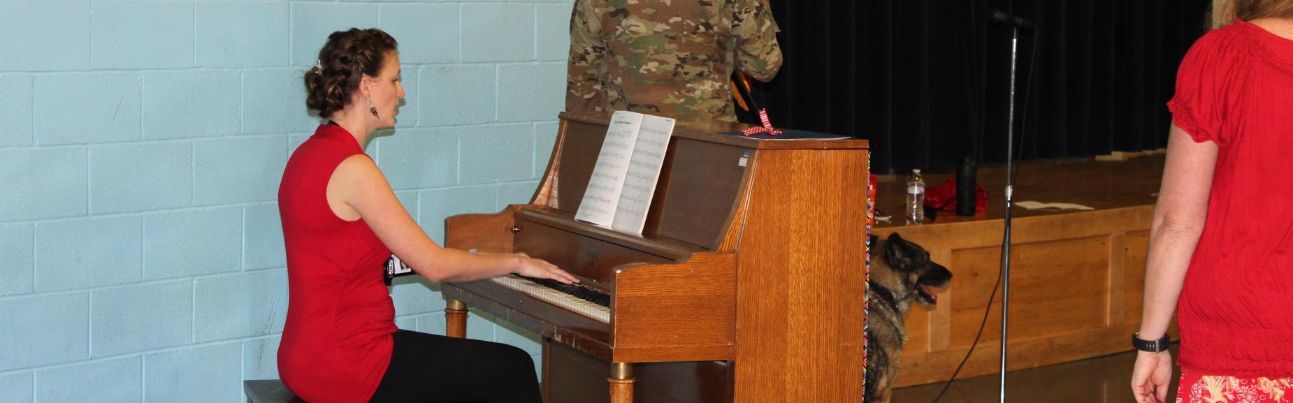 Mrs. Baron Sharing Her Gift of Music