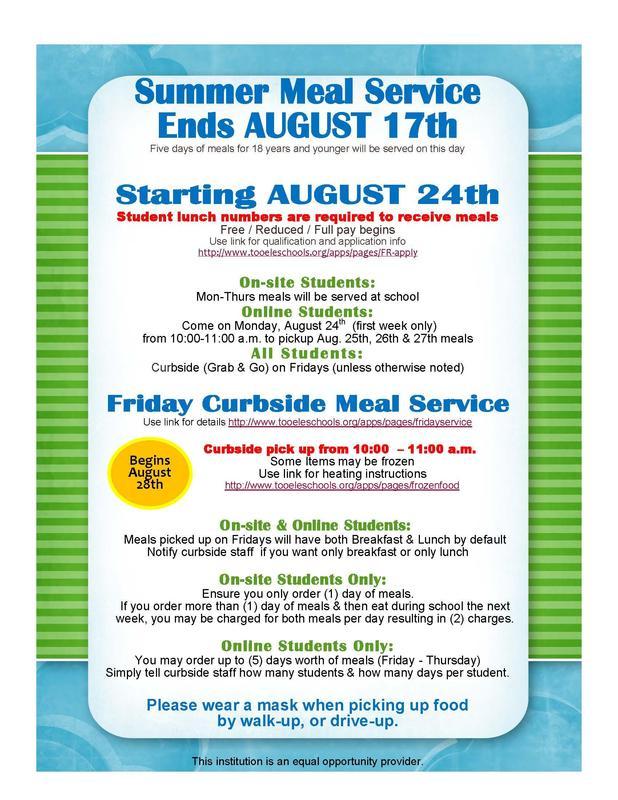 Summer Feeding Ends  School Lunches Begin