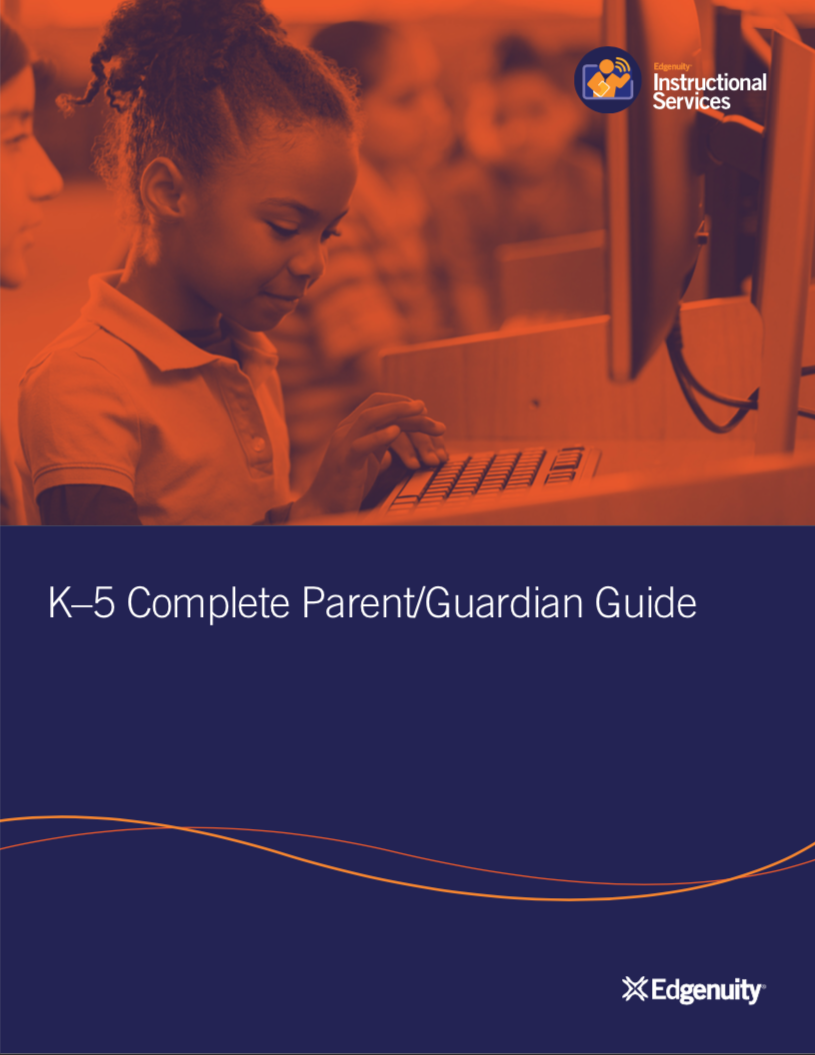 Cover Page Parent Book Edgenuity