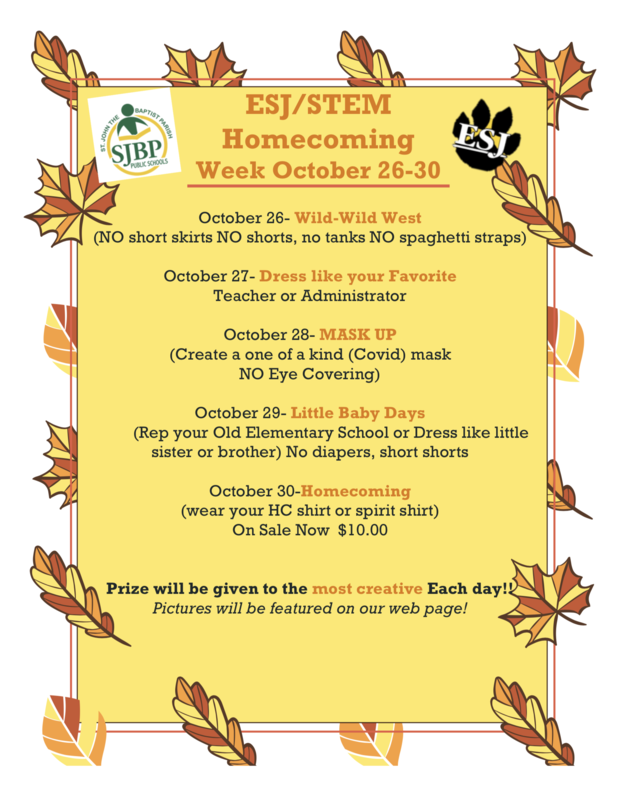 ESJ/STEM Homecoming Week October 26-30, 2020 Thumbnail Image