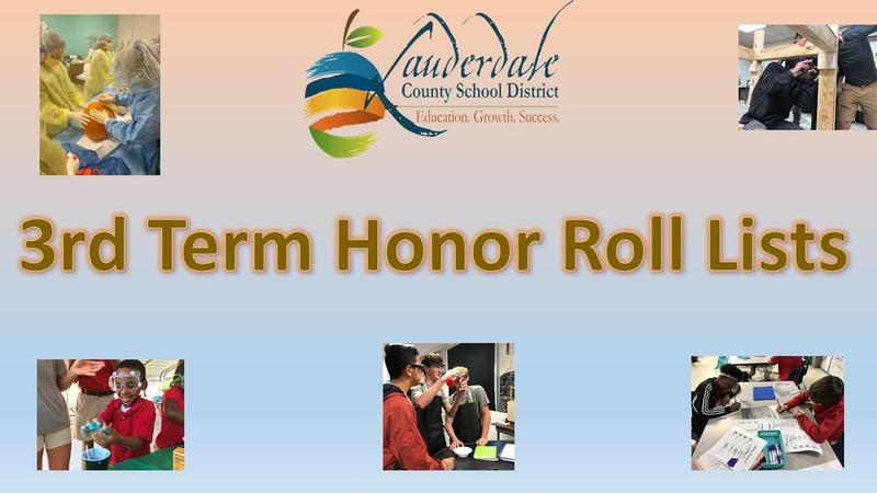 LCSD Third Term Honor Roll Lists Graphic