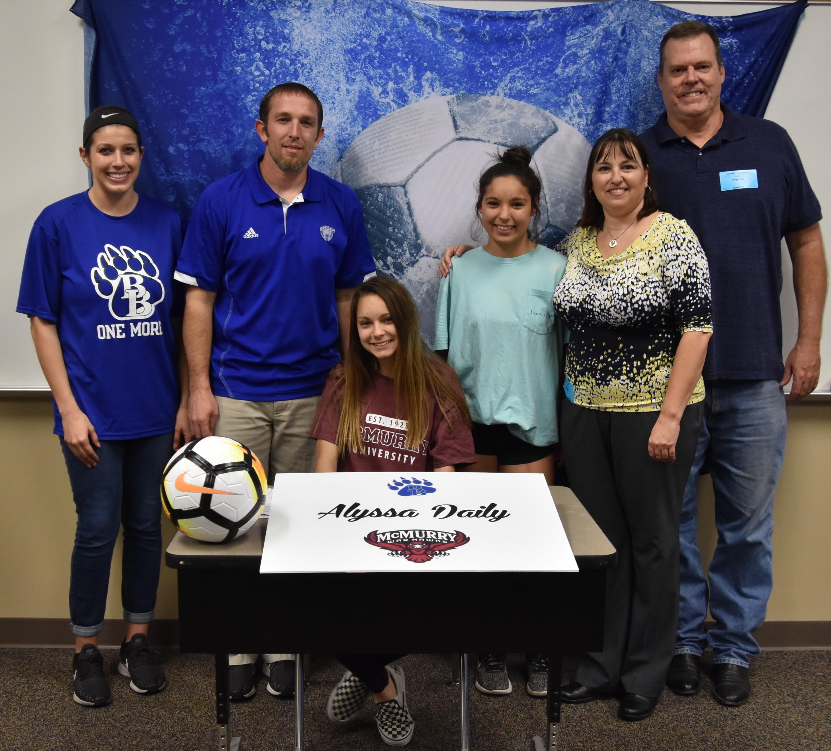 Alyssa Daily will play soccer at McMurry University.