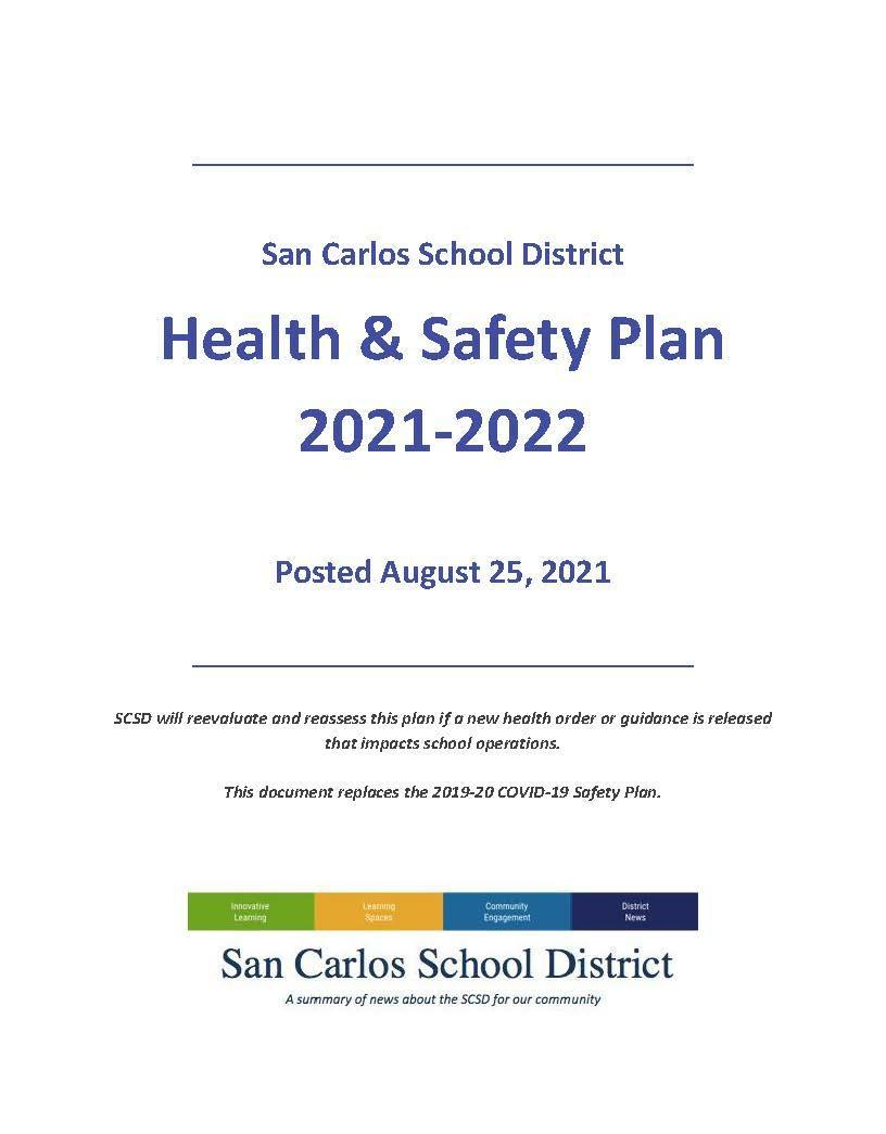 SCSD Health & Safety Plan Image