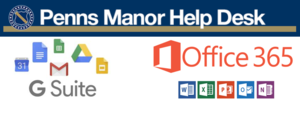 Penns Manor Help Desk, GSuite, and Office365 Logo