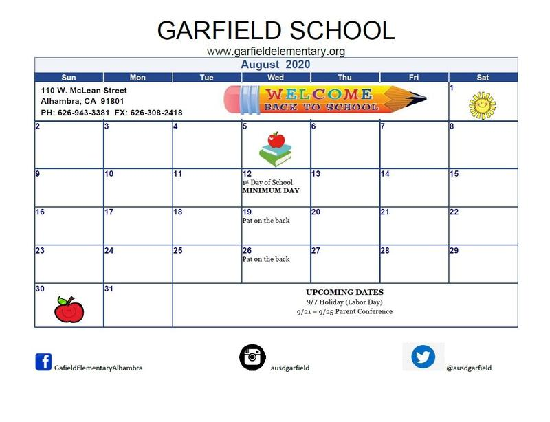 August 2020 Student Calendar Featured Photo