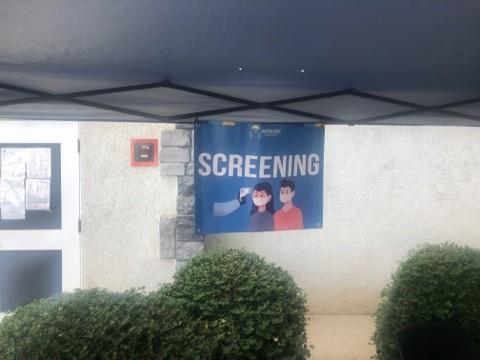 COVID screening tent