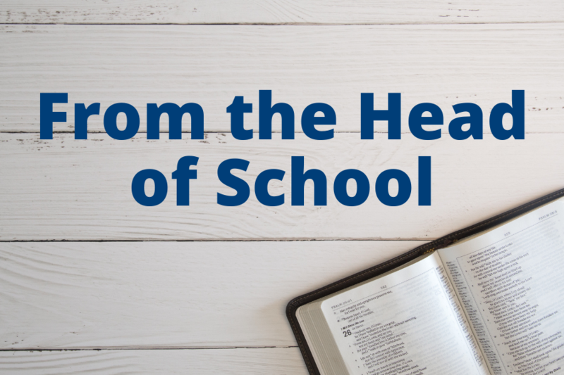 from the head of school