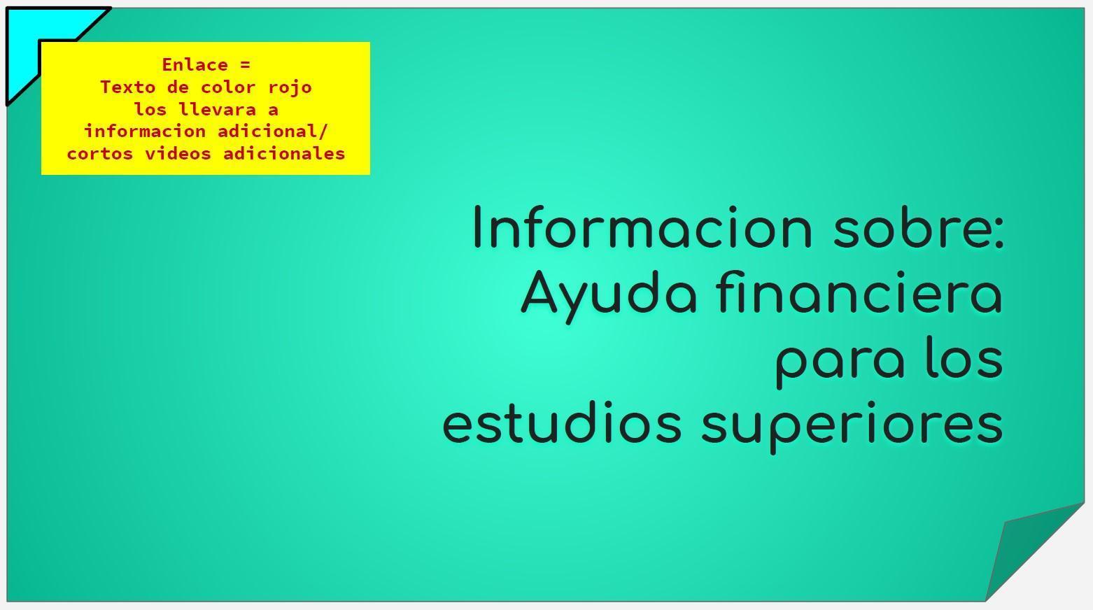 Ayuda Finaciera - Presentacion Breve