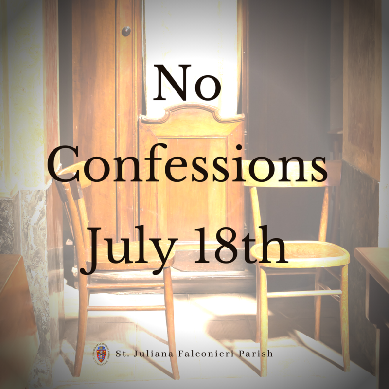 No Confessions Saturday, July 18th Featured Photo