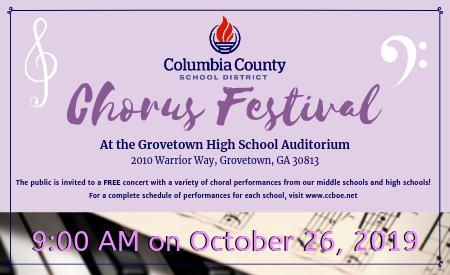 chorus festival flyer