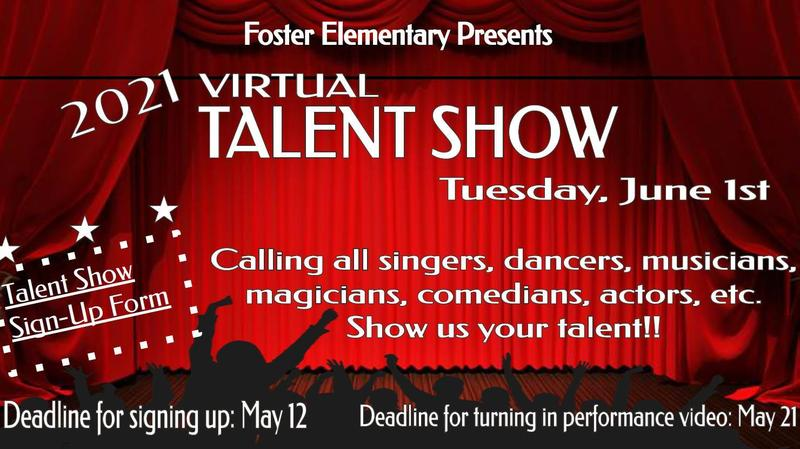 Foster's 2021 Virtual Talent Show is Coming on June 1st! Featured Photo