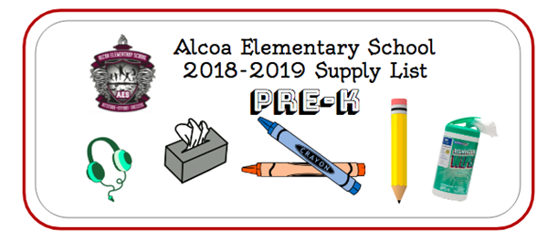 2018-19 Pre-K Supply List