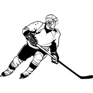clipart of a hockey player