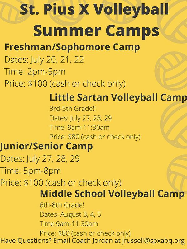 Volleyball summer camps