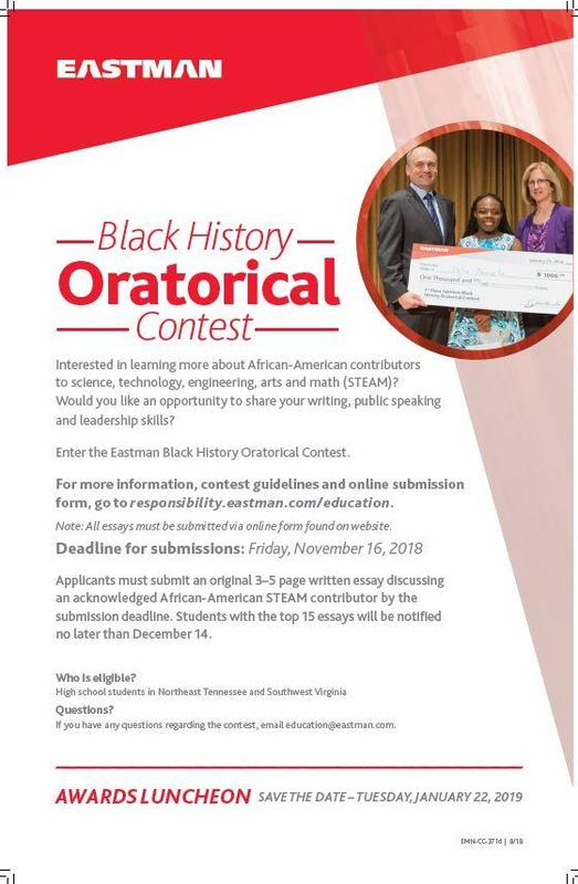 Eastman Black History Oratorical Contest