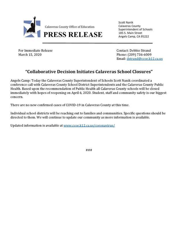 closure press release