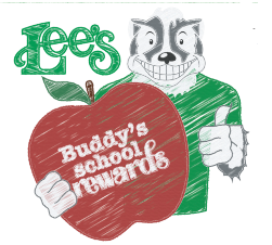 Lee's Buddy's School Rewards Program 2019-2020 School Year Featured Photo