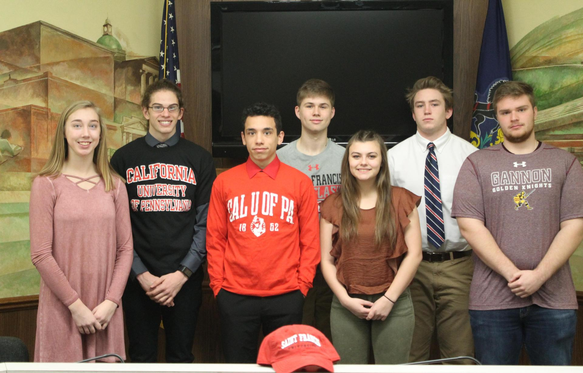 Group picture of College Signing 2018