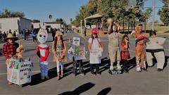Pictures of students in costumes