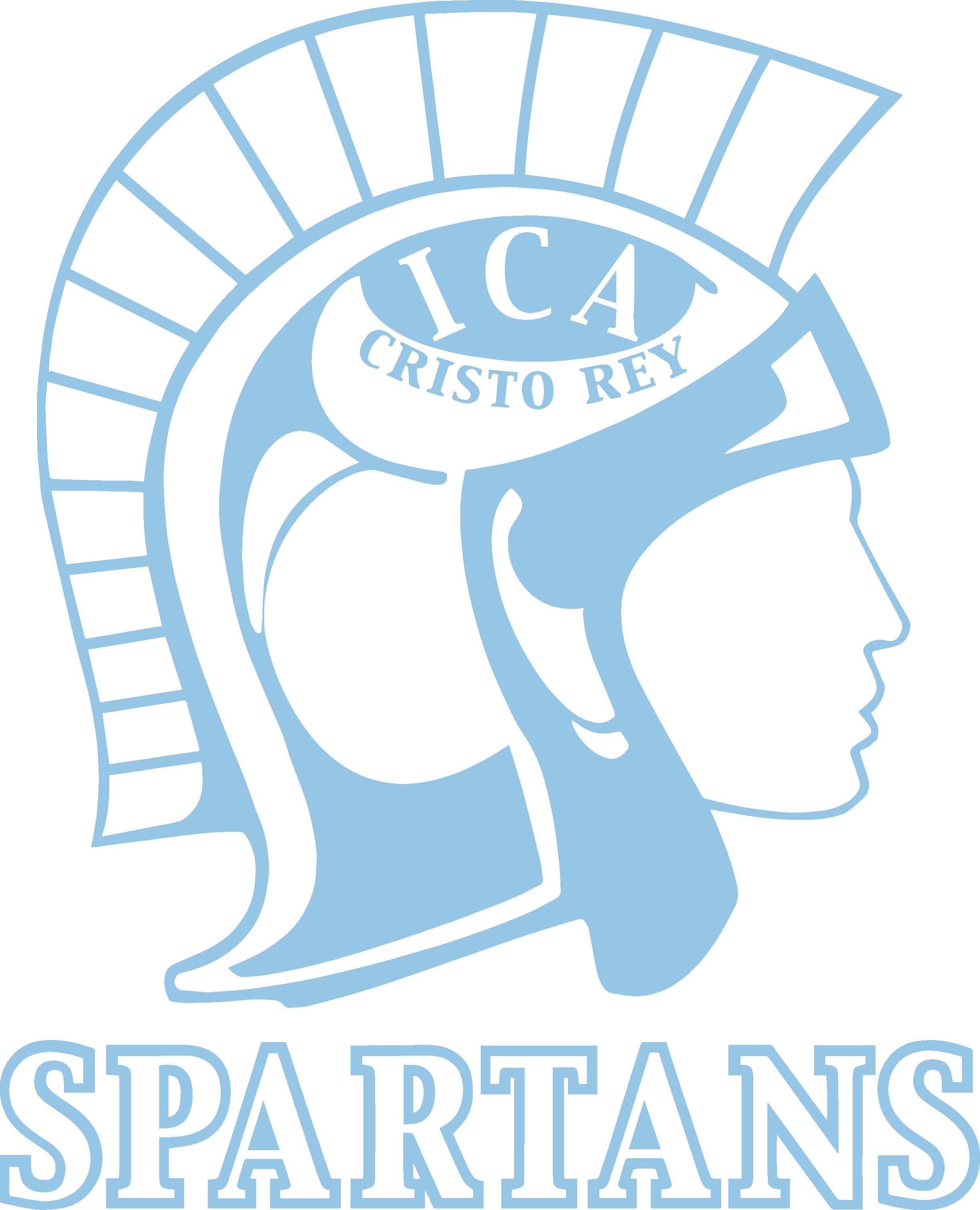 Mascot: Female Spartan Head