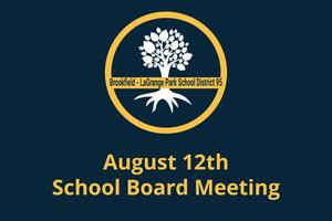 August 12th School Board Meeting