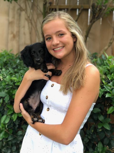 Lauren with our puppy, Brynlie