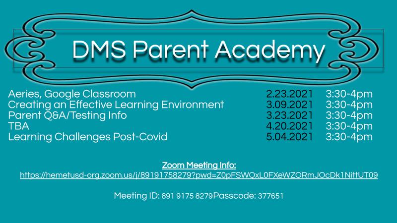 DMS Parent Academy