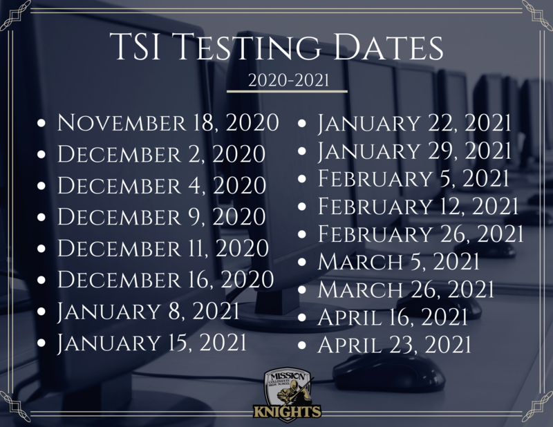TSI Dates for the 2020-2021 School Year Featured Photo
