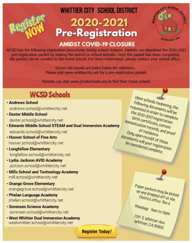 Pre Registration 2020-2021