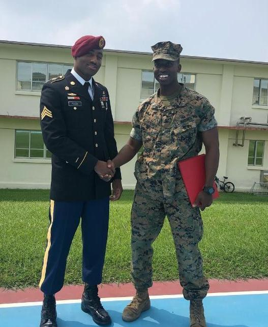 Two Class of 2012 Grads Reunite for Marine Corps Promotion Rite Thumbnail Image