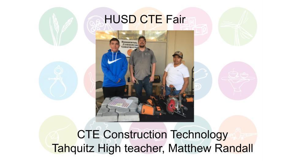 CTE Construction Technology Tahquitz High teacher, Matthew Randall