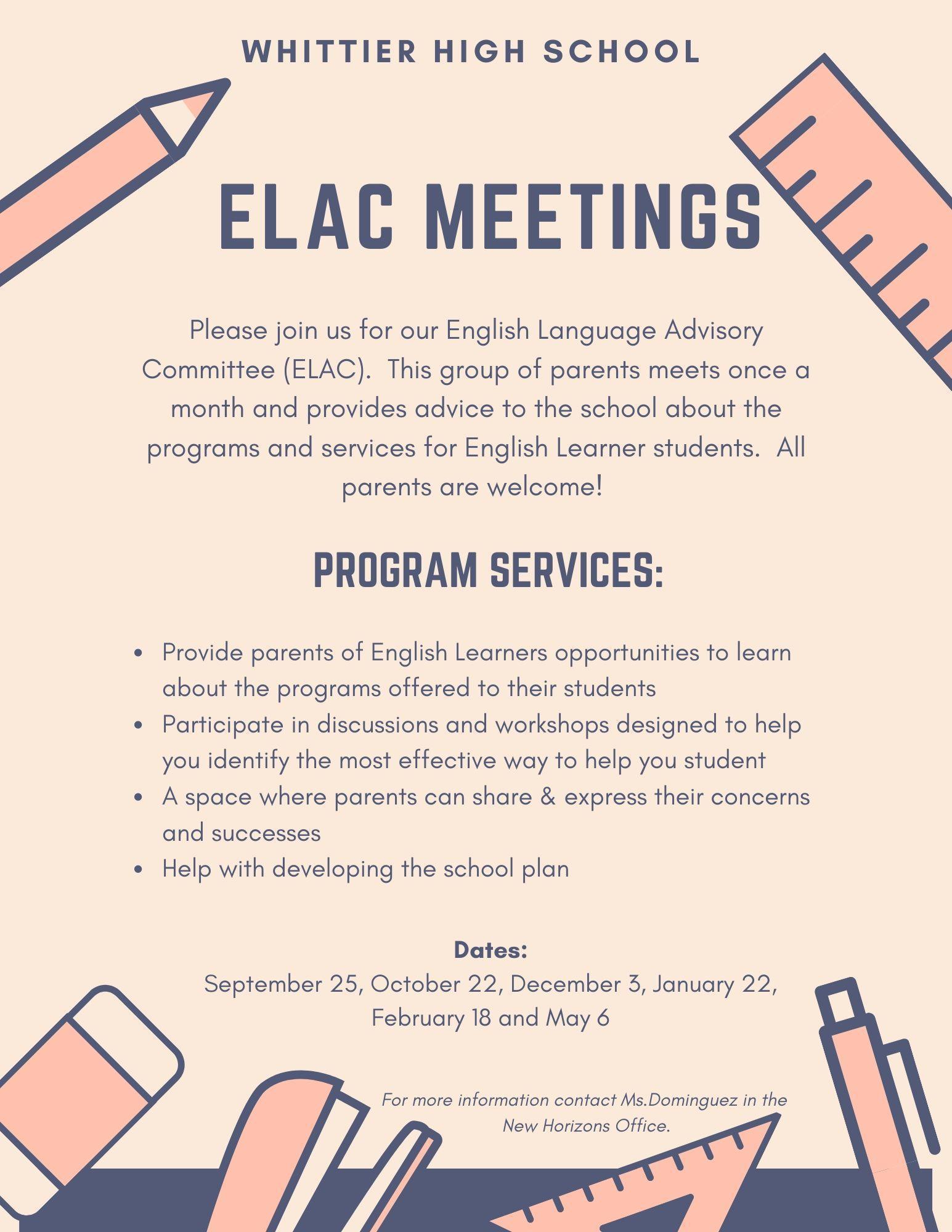 ELAC info