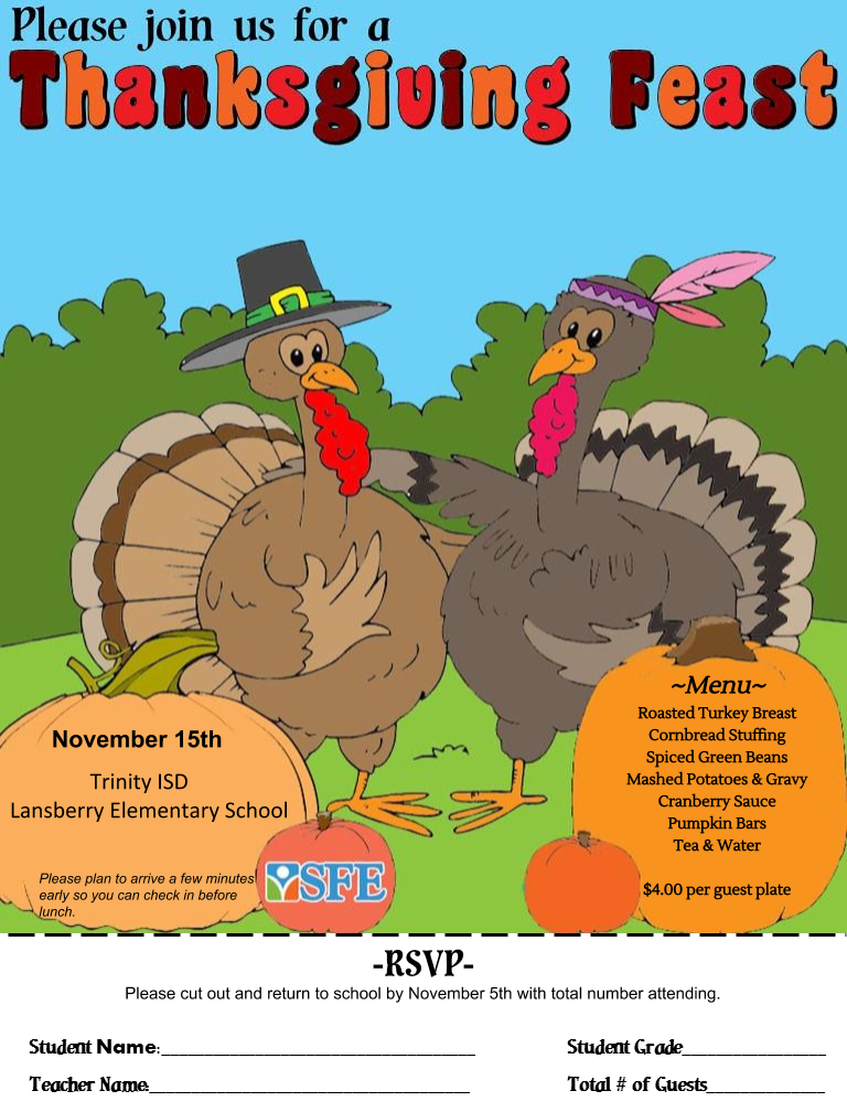 Thanksgiving Feast at LES November 15th! Thumbnail Image